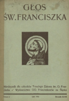 Głos Świętego Franciszka, 1934, R. 27, z. 2