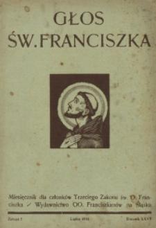 Głos Świętego Franciszka, 1934, R. 27, z. 7