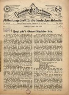 Gewerkschaftsstimme, 1934, Jg.14, Nr. 7