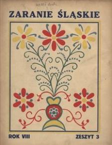 Zaranie Śląskie, 1932, R. 8, z. 3