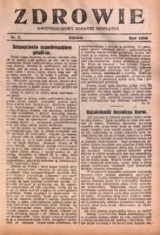 Zdrowie, 1928, nr 1