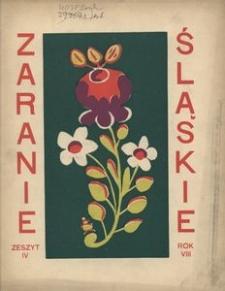 Zaranie Śląskie, 1932, R. 8, z. 4