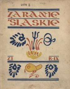 Zaranie Śląskie, 1933, R. 9, z. 1