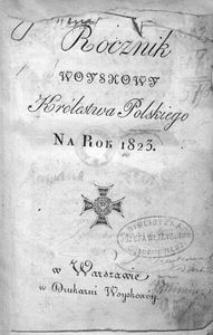 Rocznik Woyskowy Królestwa Polskiego. Na rok 1823