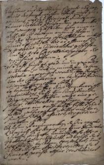 Fragment protokołu sądowego w sprawie Jenknera (Jencknerische Inquisitions Sache), niedatowany i niepodpisany