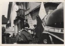 Podczas uroczystości odsłonięcia tablicy pamiątkowej w Jabłonkowie dn. 15.VII.34