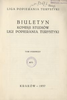 Biuletyn Komisji Studiów Ligi Popierania Turystyki, 1937, t. 1