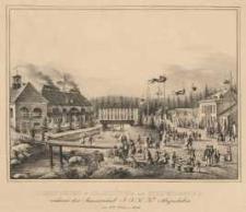 Josephinien=Glashütte zu Schreiberhau. Während der Anwesenheit I.I.K.K. Majestäten am 6ten October 1846