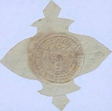Opłatkowy odcisk pieczęci cechu garncarzy w Cieszynie