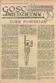 Gość Niedzielny, 1952, R. 25, nr 17