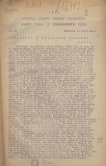 Komunikat prasowy Komitetu Zjednoczenia Górnego Śląska z Rzecząpospolitą Polską. Nr 29, Plebiscyt w pierwszej połowie marca