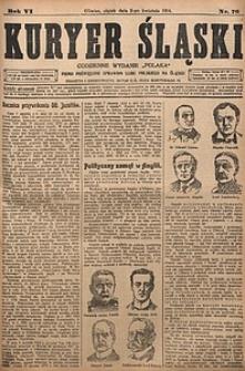 Kuryer Śląski, 1914, R. 6 [właśc. 8], nr76