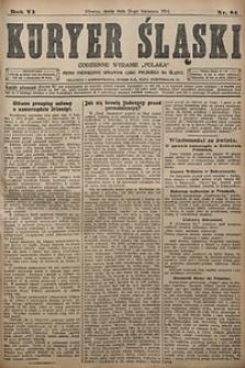 Kuryer Śląski, 1914, R. 6 [właśc. 8], nr84