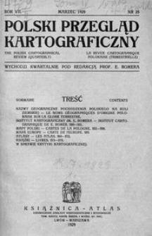 Polski Przegląd Kartograficzny, 1929, T. 4, nr 25