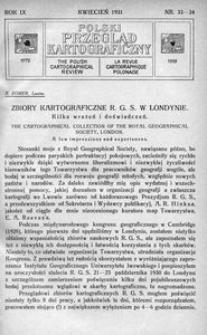 Polski Przegląd Kartograficzny, 1931, [T. 5], R. 9, nr 33/34
