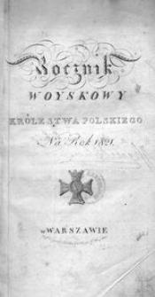 Rocznik Woyskowy Królestwa Polskiego. Na rok 1821