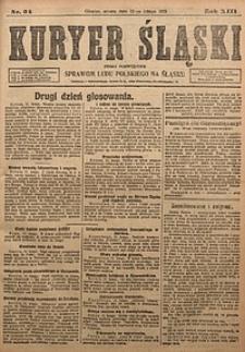 Kuryer Śląski, 1921, R. 13 [właśc. 15], nr34
