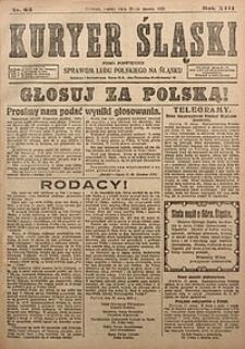 Kuryer Śląski, 1921, R. 13 [właśc. 15], nr63