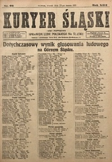 Kuryer Śląski, 1921, R. 13 [właśc. 15], nr66