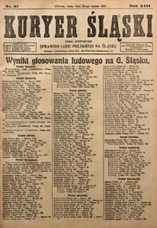Kuryer Śląski, 1921, R. 13 [właśc. 15], nr67