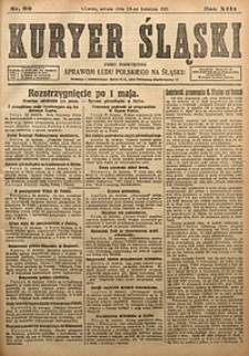 Kuryer Śląski, 1921, R. 13 [właśc. 15], nr92