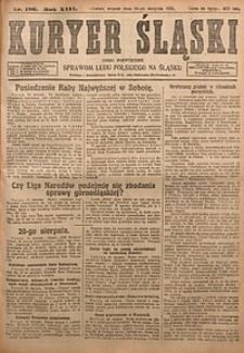 Kuryer Śląski, 1921, R. 13 [właśc. 15], nr186