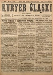 Kuryer Śląski, 1921, R. 13 [właśc. 15], nr241