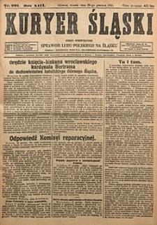 Kuryer Śląski, 1921, R. 13 [właśc. 15], nr291