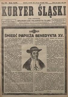 Kuryer Śląski, 1922, R. 14 [właśc. 16], nr19
