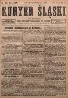 Kuryer Śląski, 1922, R. 14 [właśc. 16], nr42