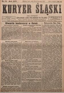 Kuryer Śląski, 1922, R. 14 [właśc. 16], nr84