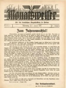 Monatsweiser für Deutschen Angestellten in Polen, 1936, Jg. 11, nr 1