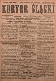 Kuryer Śląski, 1922, R. 14 [właśc. 16], nr212