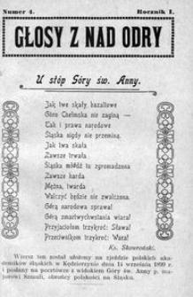Głosy z nad Odry, 1918, R. 1, nr 4