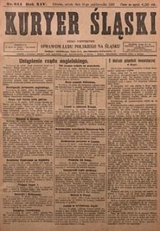 Kuryer Śląski, 1922, R. 14 [właśc. 16], nr244