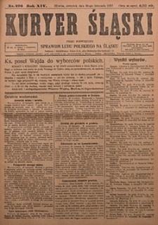 Kuryer Śląski, 1922, R. 14 [właśc. 16], nr276