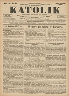 Katolik, 1927, R. 60, nr15