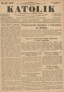 Katolik, 1927, R. 60, nr24