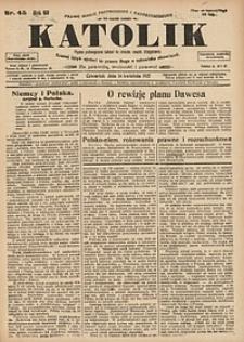 Katolik, 1927, R. 60, nr45
