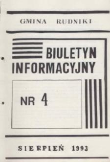 Biuletyn Informacyjny Gmina Rudniki 1993, nr 4.