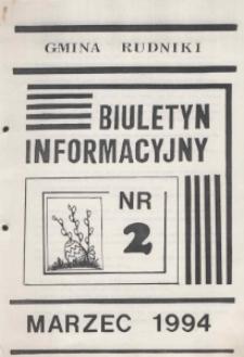 Biuletyn Informacyjny Gmina Rudniki 1994, nr 2.