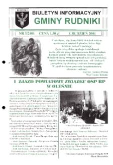 Biuletyn Informacyjny Gminy Rudniki 2001, nr 3.