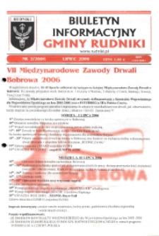 Biuletyn Informacyjny Gminy Rudniki 2006, nr 2.