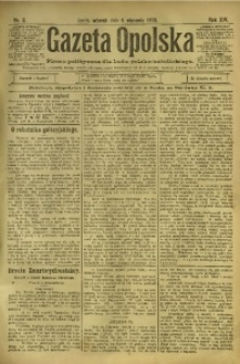 Gazeta Opolska, 1903, R. 14, nr 2