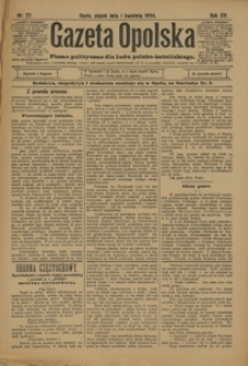 Gazeta Opolska, 1904, R. 15, nr 27