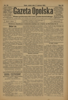 Gazeta Opolska, 1904, R. 15, nr 50