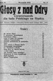 Głosy z nad Odry, 1921, R. 4, nr 3