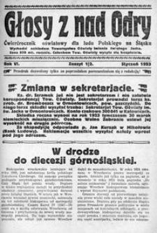 Głosy z nad Odry, 1923, R. 6, nr 1/2