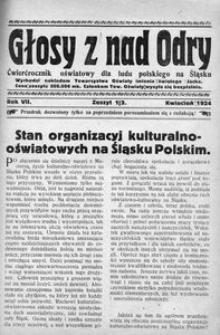 Głosy z nad Odry, 1924, R. 7, nr 1/2