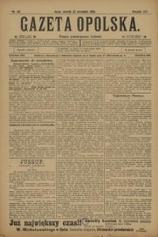 Gazeta Opolska, 1908, R. 19, nr 110